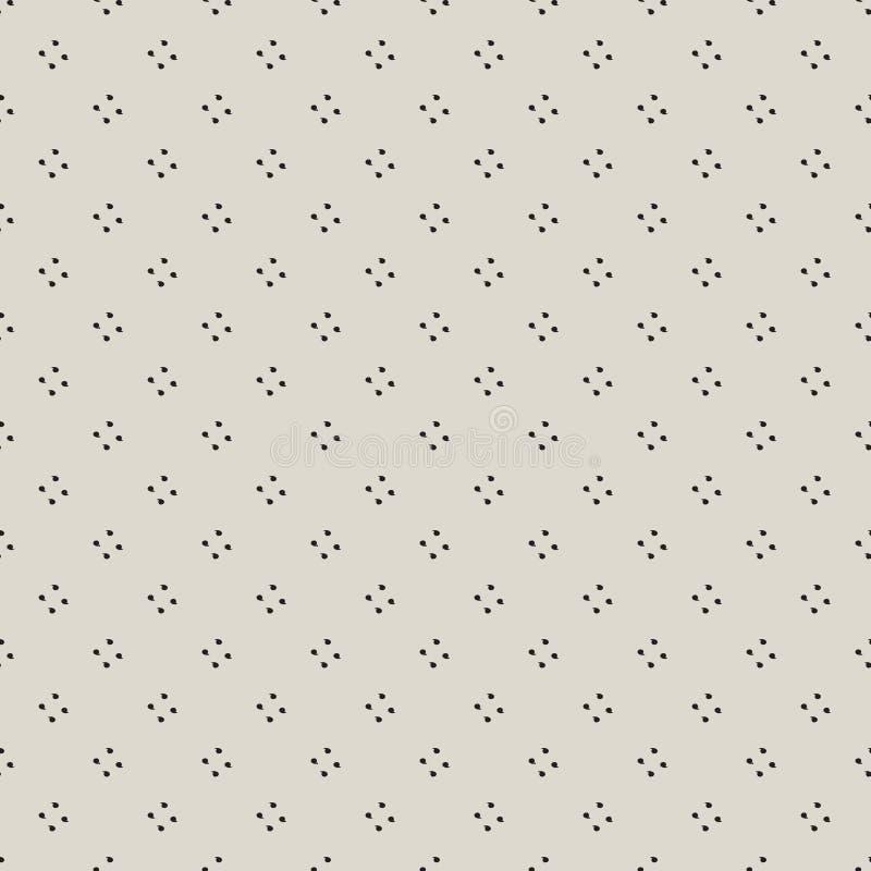 Tuiles ou tissu sans couture de fond de vecteur de modèle avec la virgule illustration libre de droits