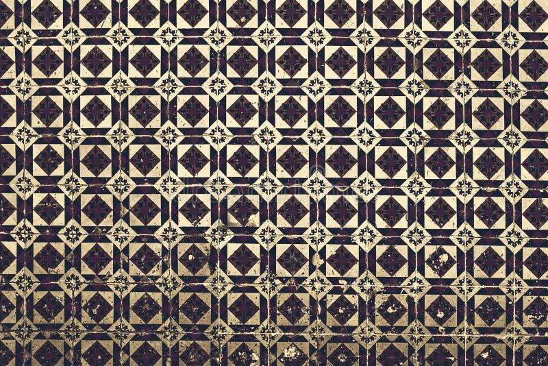 Tuiles portugaises typiques, Azulejo bleu, Espagnol, Italien et MOIS photos libres de droits