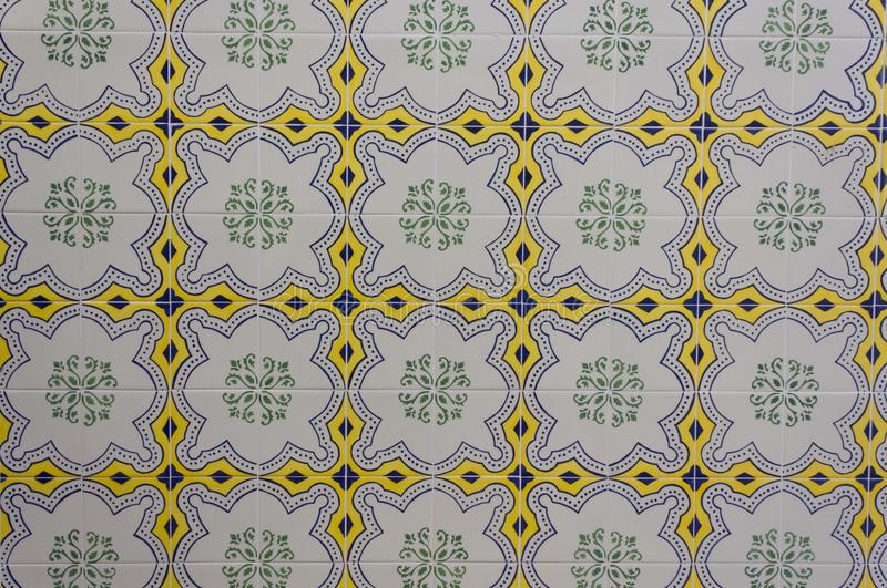 Tuiles traditionnelles d'Azulejos images stock