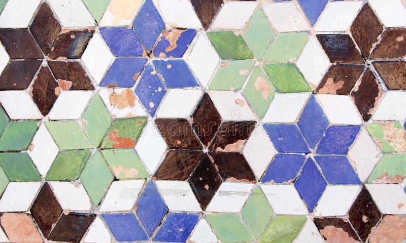 Tuiles vitrées colorées images stock