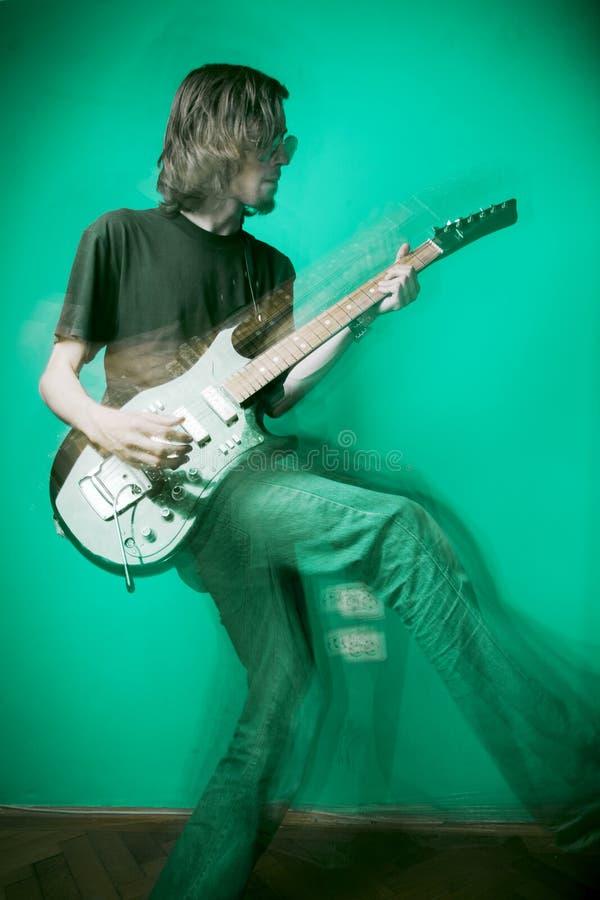 Tuimelschakelaar en gitaar stock afbeeldingen