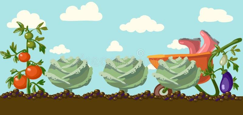 Tuin.  stock illustratie