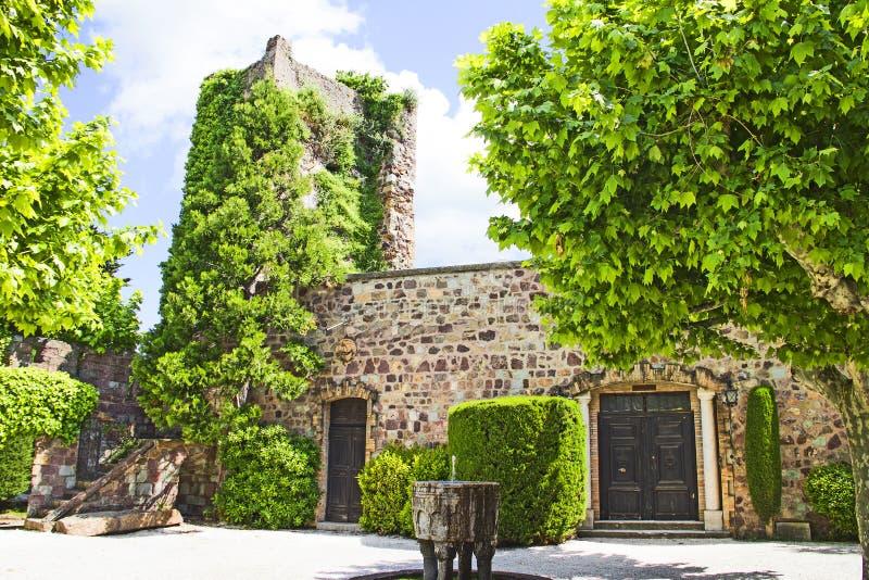 Tuin in het Kasteel van mandelieu-La Napoule stock fotografie