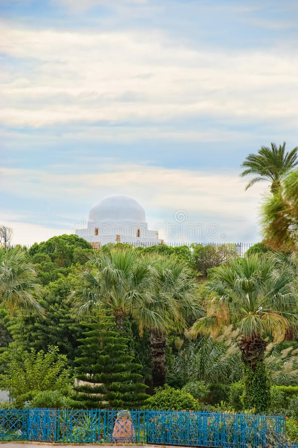 Tuin in monastir, Tunesië stock fotografie