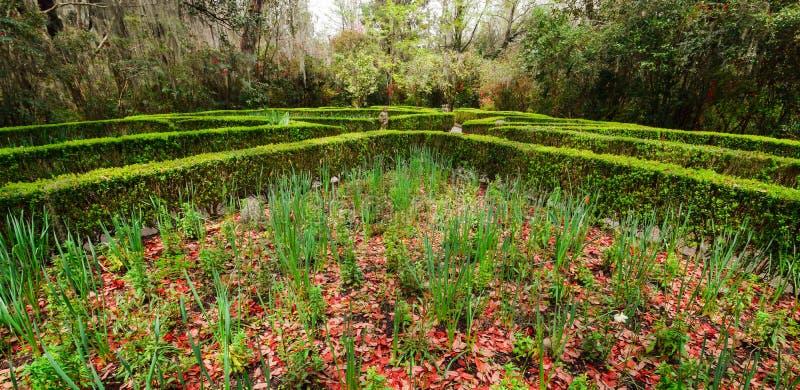 Tuin op Centrum Getty royalty-vrije stock afbeeldingen