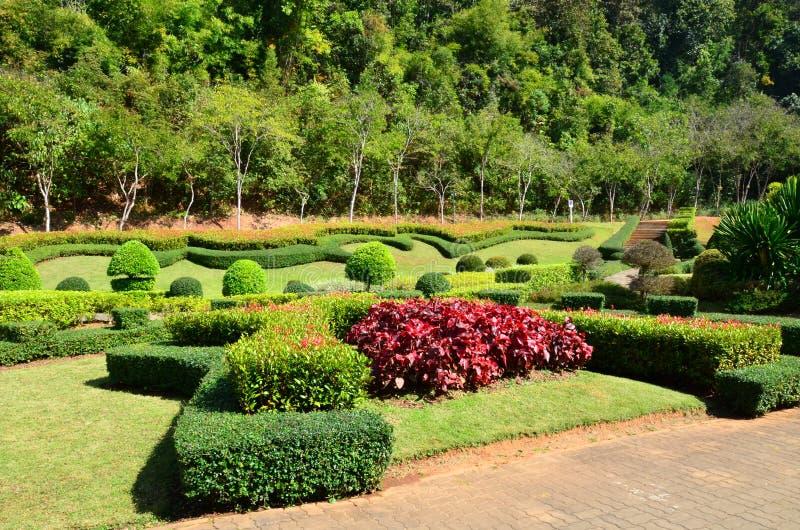 Tuin op de heuvel stock afbeeldingen