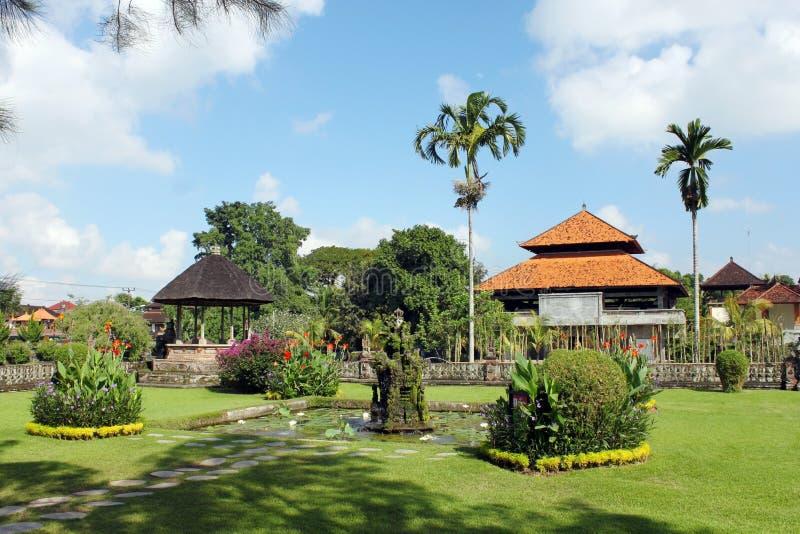 Tuin in Taman Ayun royalty-vrije stock fotografie