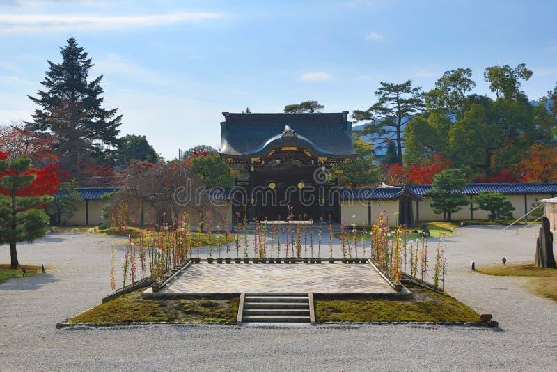 Tuin van byodo-in Tempel in Kyoto, Japan royalty-vrije stock afbeeldingen