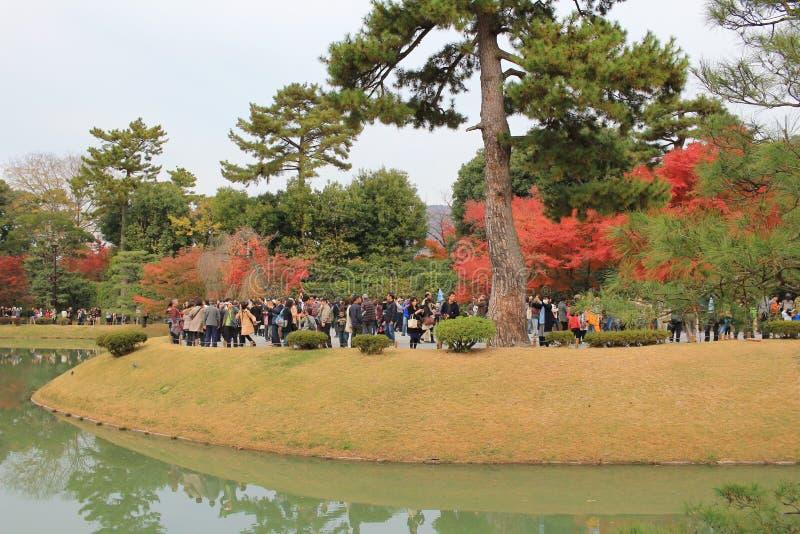 Tuin van byodo-in Tempel in Kyoto, Japan stock afbeeldingen