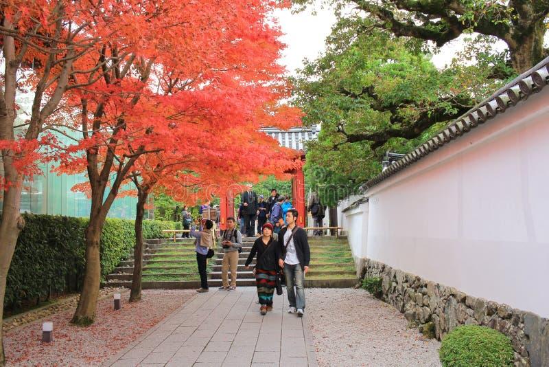 Tuin van byodo-in Tempel in Kyoto, Japan stock afbeelding