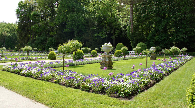 Tuin van Diana de Poitiers in Chateau Chenonceau royalty-vrije stock afbeelding