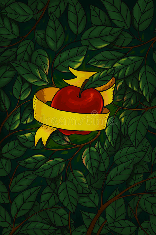 Tuin van Eden stock illustratie