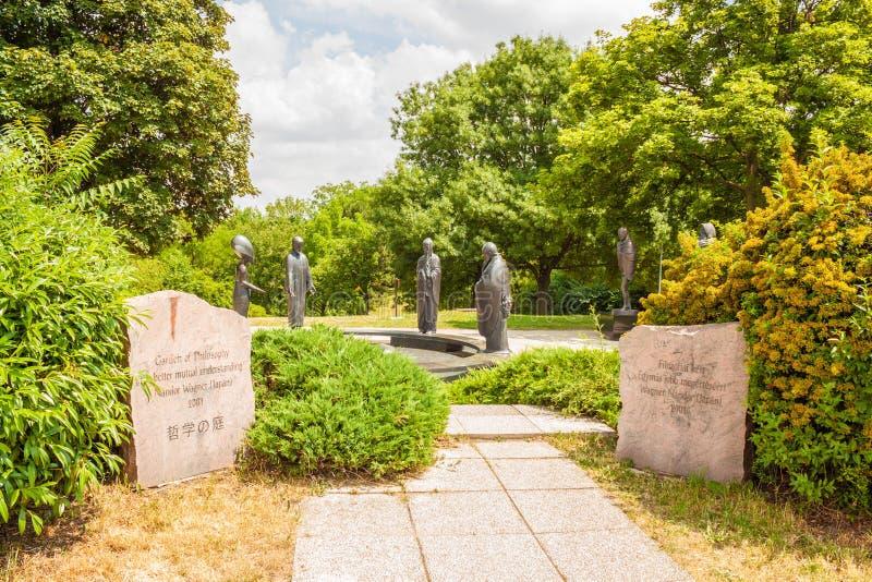 Tuin van Filosofie in Boedapest, Hongarije royalty-vrije stock afbeelding