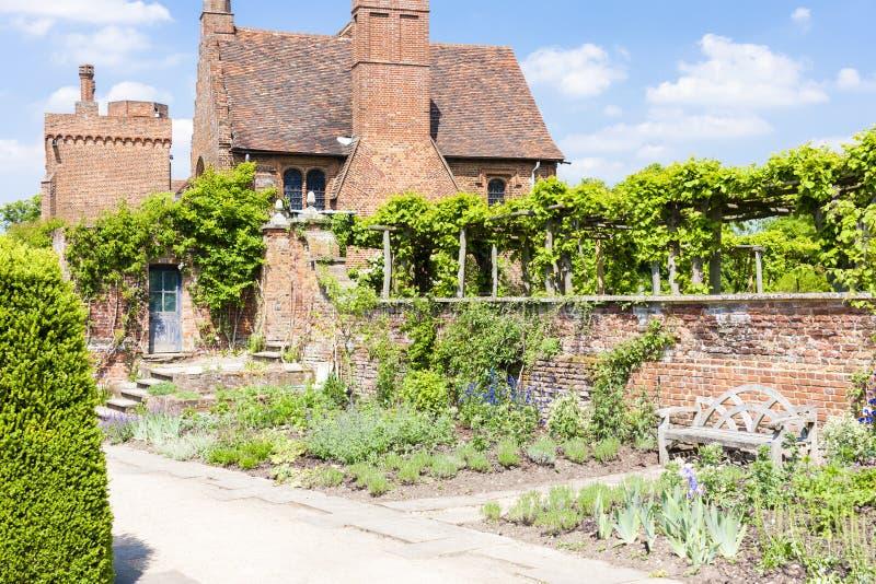 Tuin van Hatfield-Huis, Hertfordshire, Engeland stock fotografie