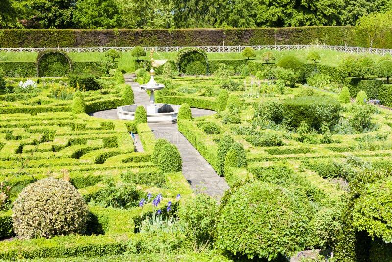 Tuin van Hatfield-Huis, Hertfordshire, Engeland stock foto's