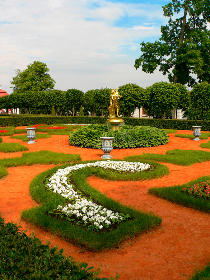 Tuin van Peterhof royalty-vrije stock afbeelding