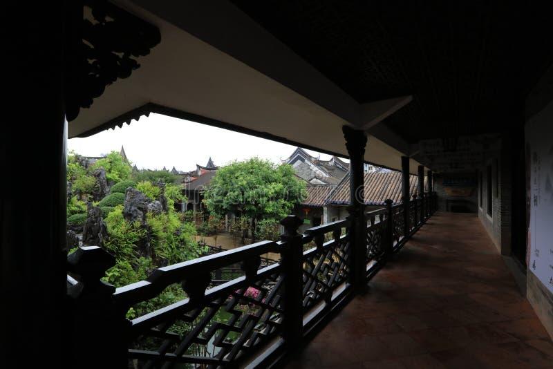 Tuin van Yuyinshanfang 22 - Één van mooiste tuin vier in Guangzhou - - een historische plaats van Guangzhou - Guangdong - China stock afbeeldingen