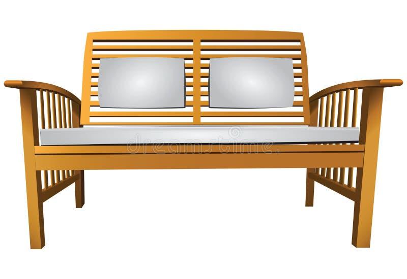 Tuinbank vector illustratie