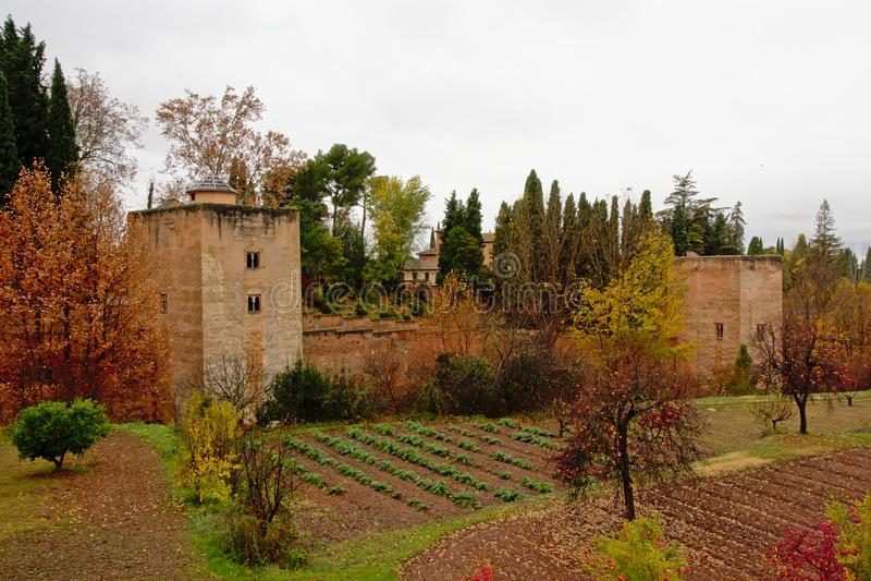Tuinen van Alhambra, Andalusia, Spanje royalty-vrije stock afbeeldingen