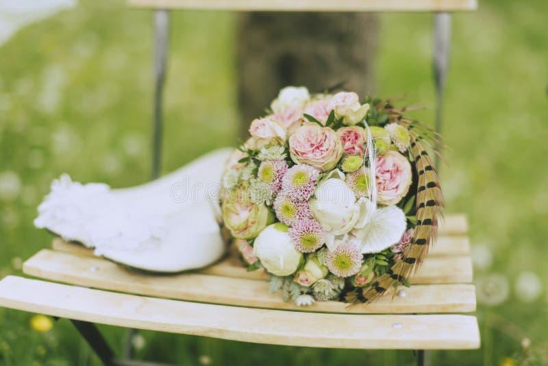 Tuinhuwelijk stock foto