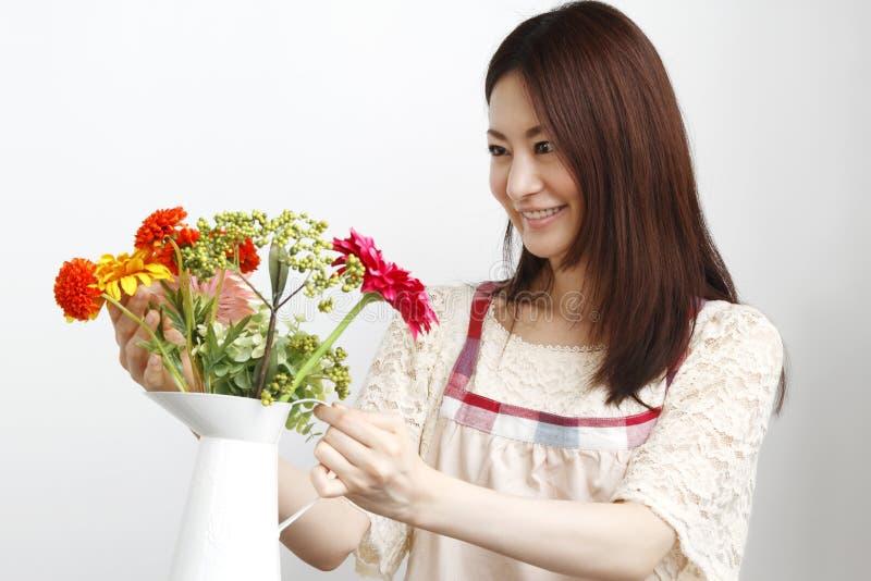 Tuinierende vrouw royalty-vrije stock foto's