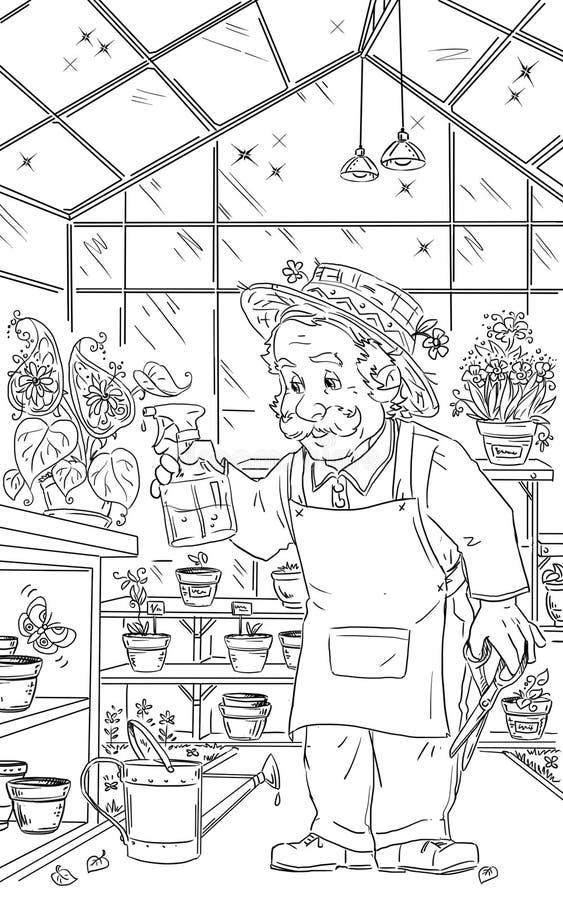 tuinman stock illustratie