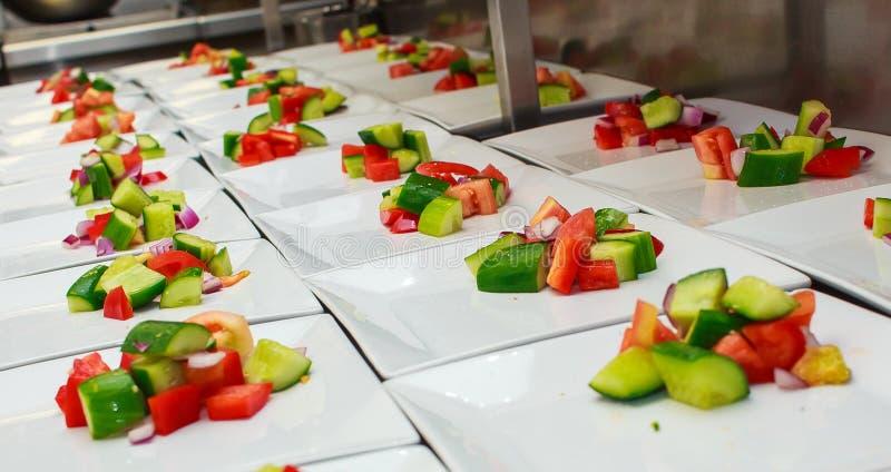 Tuinsalade voor catering royalty-vrije stock foto's