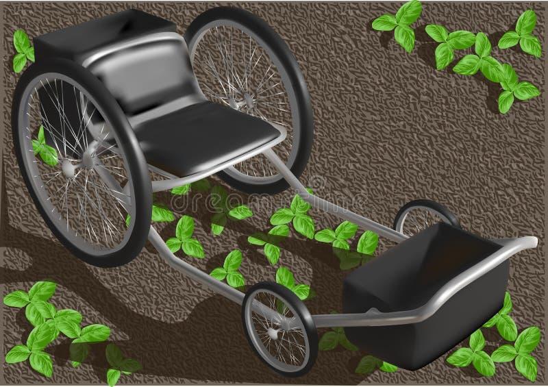 Tuinzetel met wielen vector illustratie