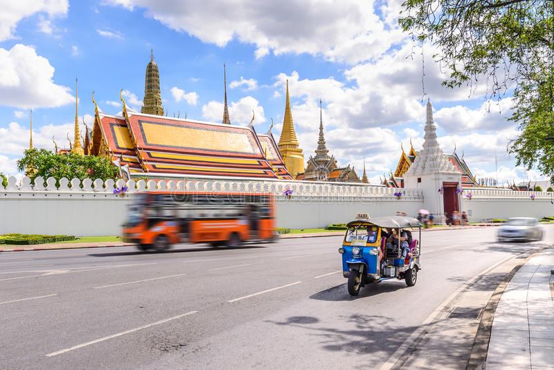 Tuk blu Tuk, taxi tradizionale tailandese a Bangkok Tailandia immagini stock