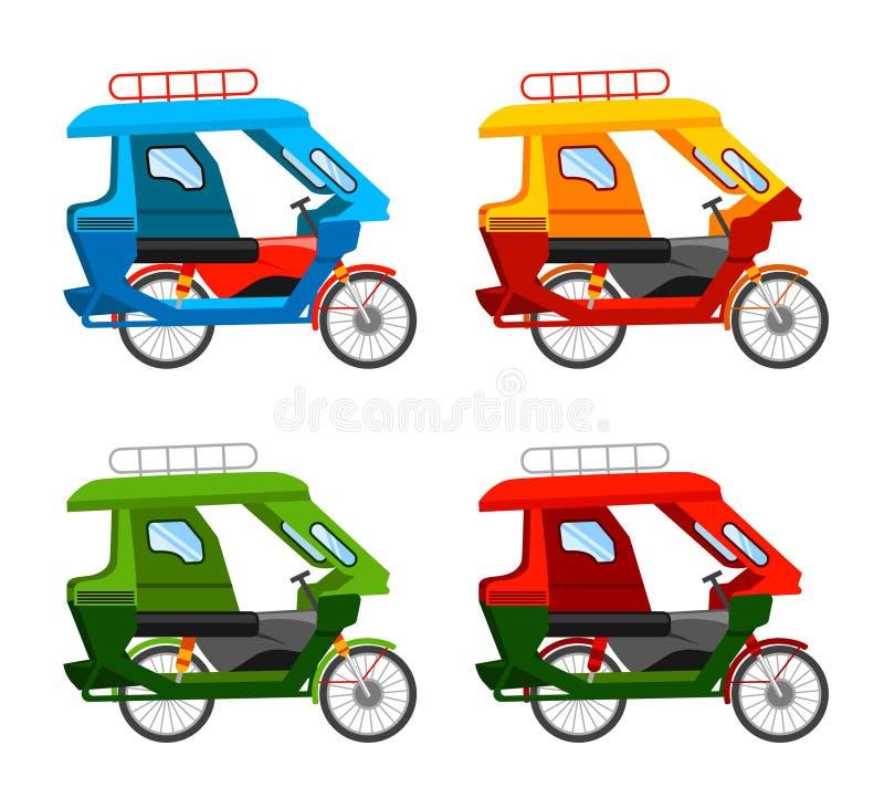 Tuk de Tuk Tricycle motorisé illustration de vecteur