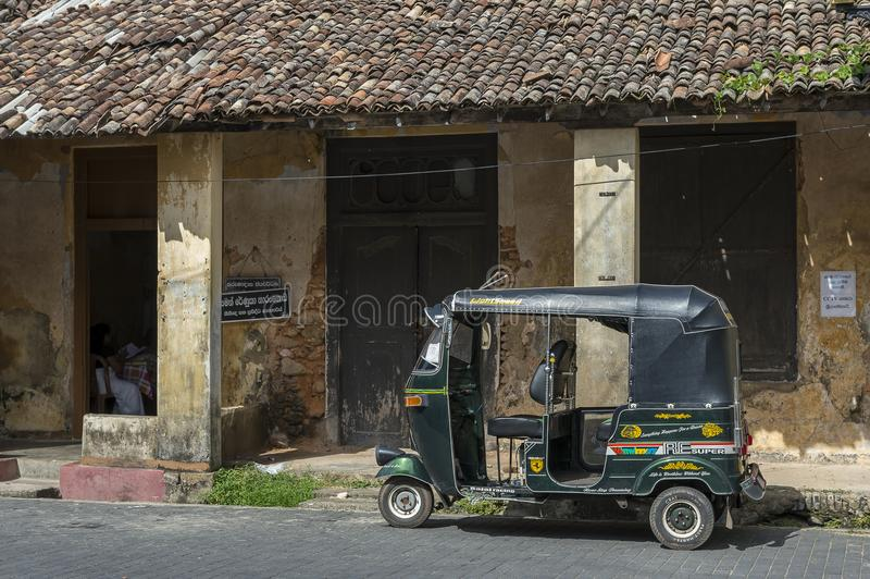 Tuk tuk Galle Sri Lanka. TukTuk in Galle in Sri Lanka. The tuk tuk is a very popular way of transportation in Asia stock photography