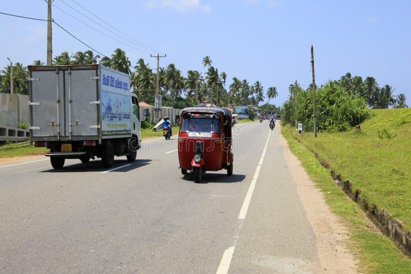 Tuk rojo Sri Lanka de Tuk foto de archivo