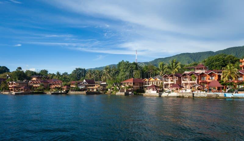 Tuk Tuk, Samosir, lago Toba, Sumatra fotografia de stock