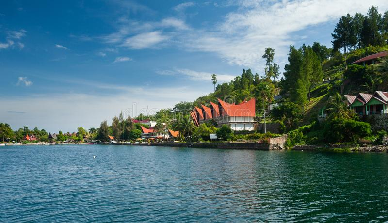 Tuk Tuk, Samosir, lago Toba, Sumatra imagens de stock