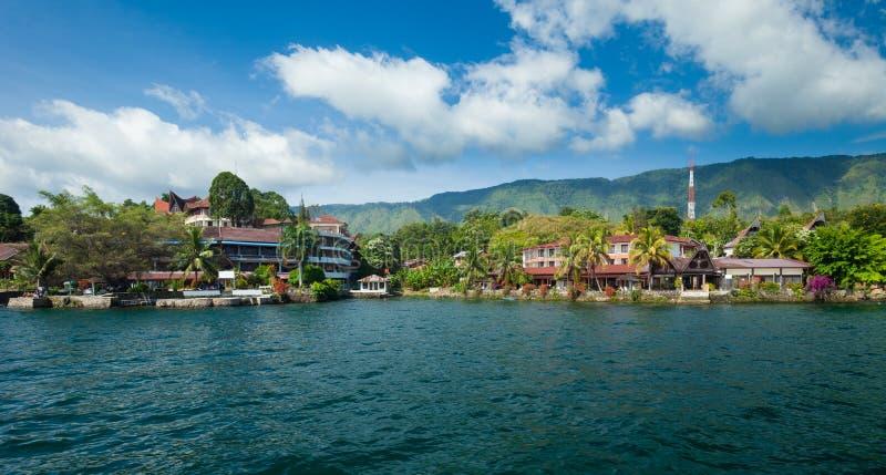 Tuk Tuk, Samosir, lago Toba, Sumatra imagem de stock royalty free