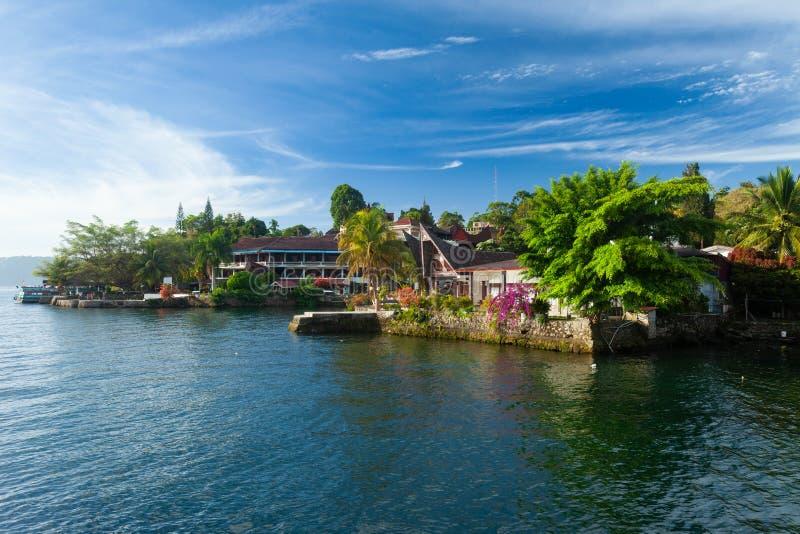 Tuk Tuk, Samosir, lago Toba, Sumatra fotografia de stock royalty free