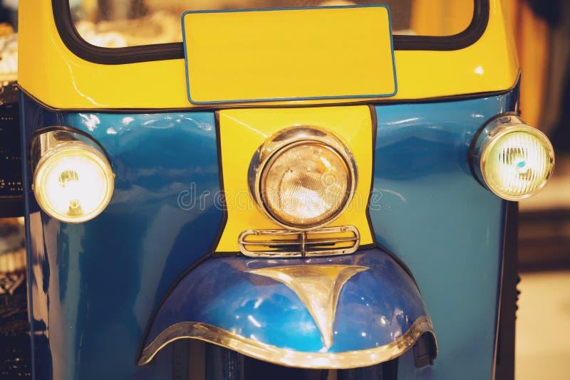 Tuk Tuk taxi, Thai traditional taxi in Bangkok Thailand.  royalty free stock image