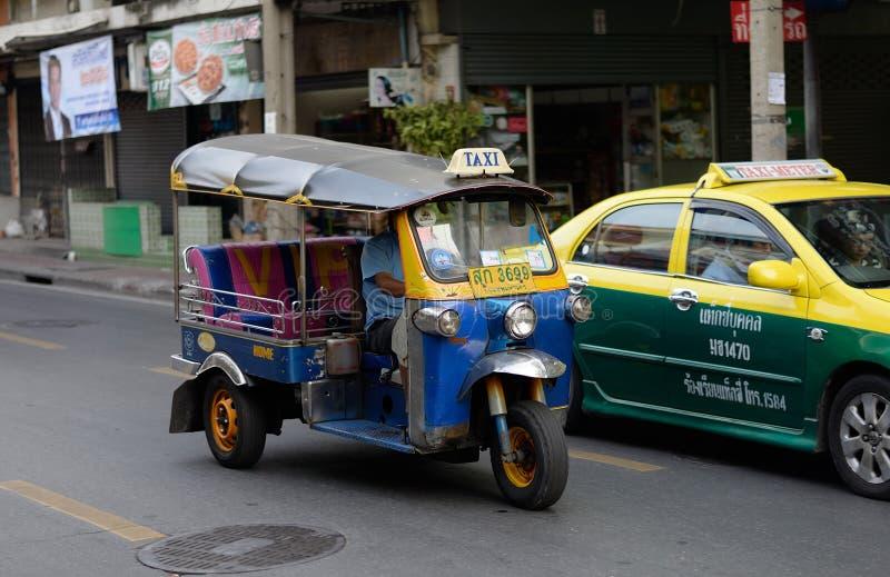 Tuk tuk在曼谷,泰国 免版税图库摄影