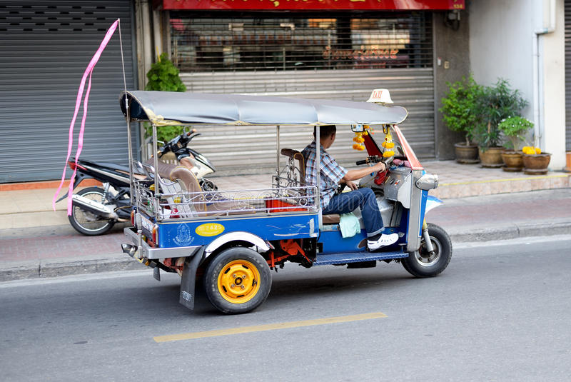 Tuk tuk在曼谷,泰国 库存照片