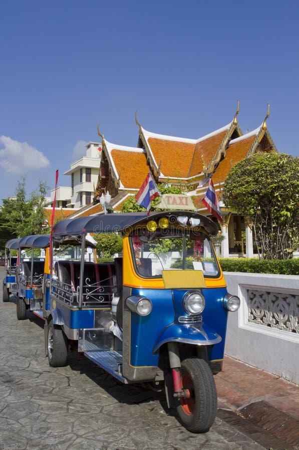 Tuk-Tuk车都市在曼谷 库存图片