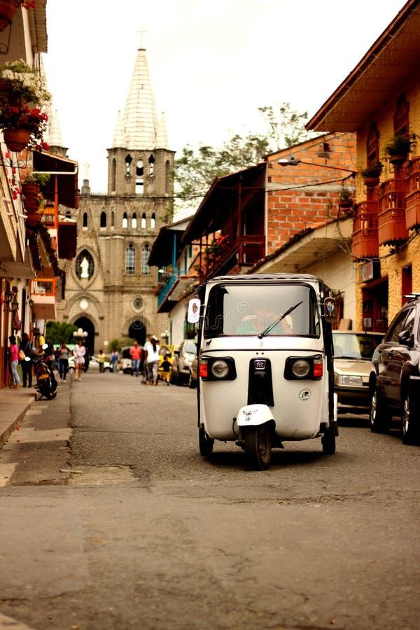 Tuk Tuk на Jardin, Antioquia стоковое фото rf