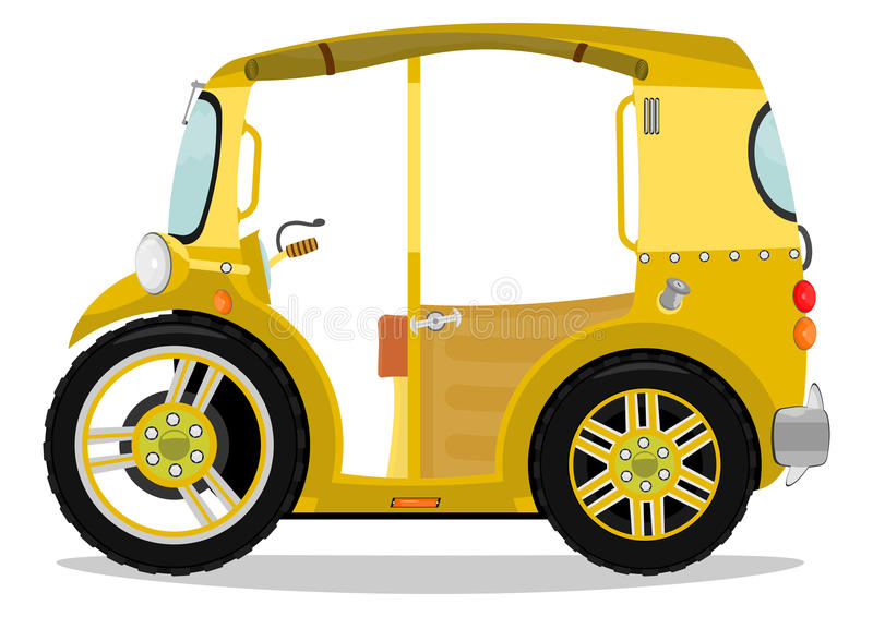 Tuk tuk stock illustrationer