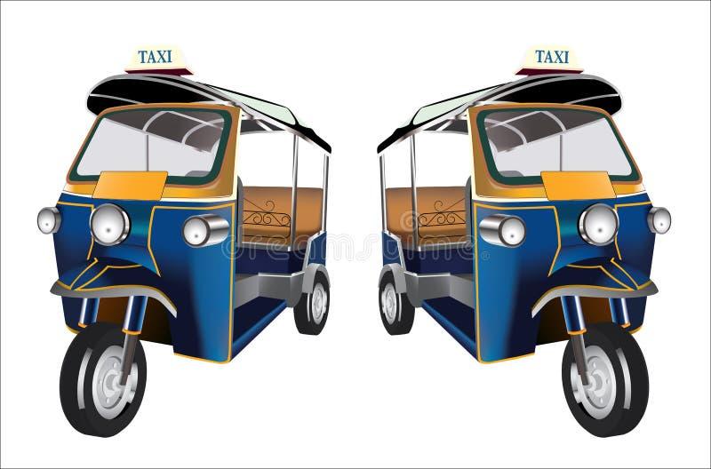 Tuk Tuk in Bangkok, Thailand royalty-vrije illustratie