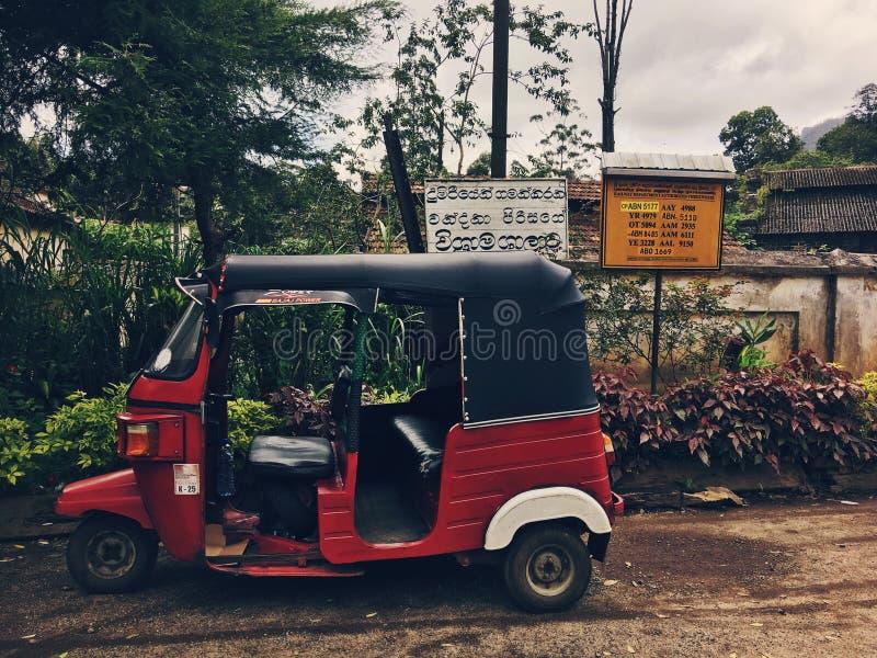 Tuk-tuk en Hatton, Sri Lanka fotografía de archivo