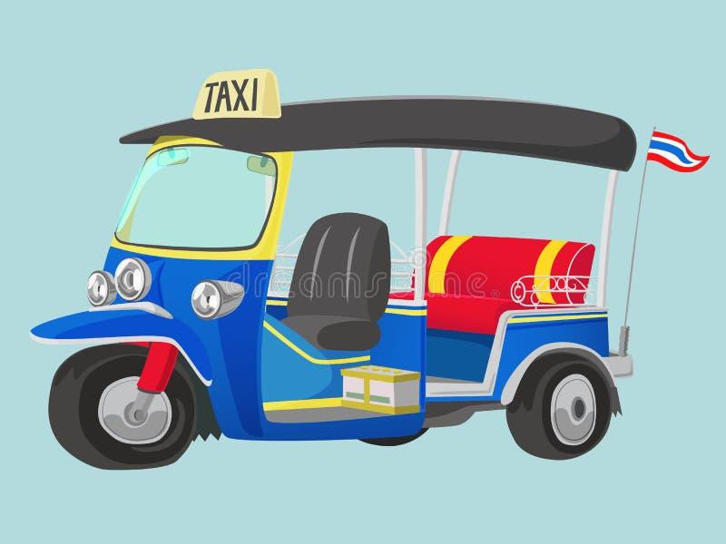 TUK-TUK Tajlandia taxi ilustracja wektor