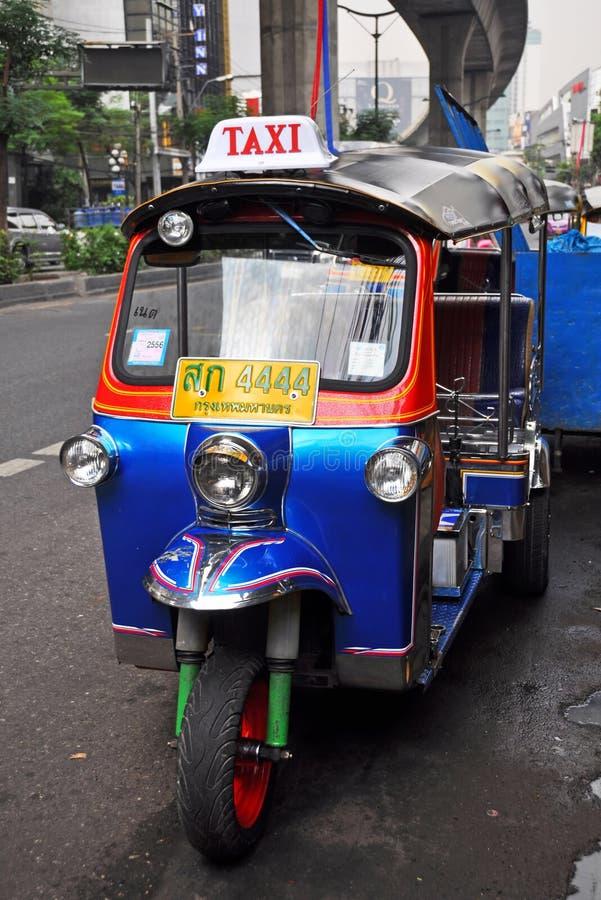 Tuk Tuk Taxi Transport in Bangkok, Thailand. stock photography