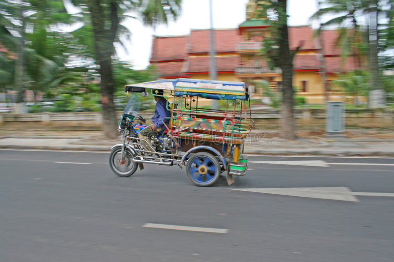 Tuk Tuk and Temple stock images