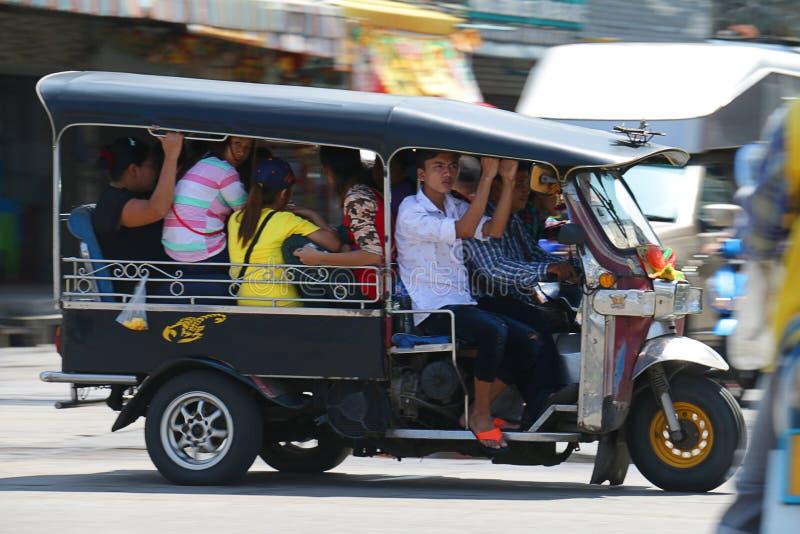 Tuk tuk van Thailand stock afbeeldingen