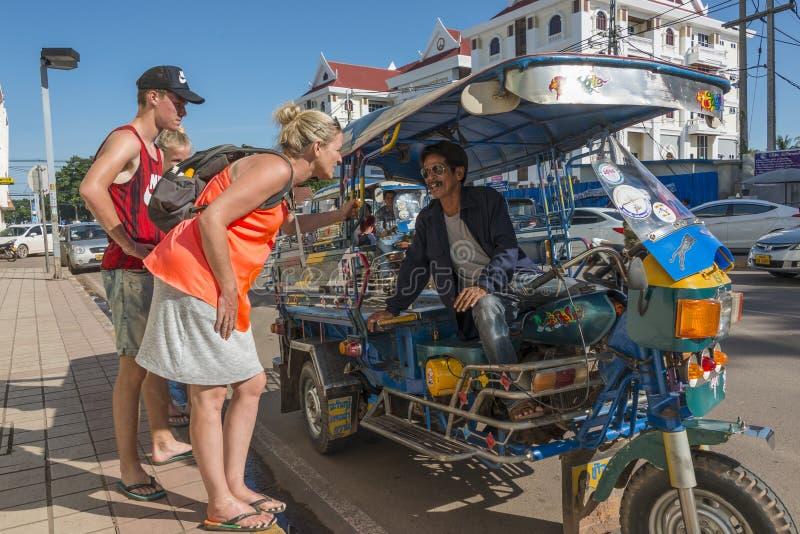Tuk tuk Vientiane, Λάος στοκ φωτογραφία