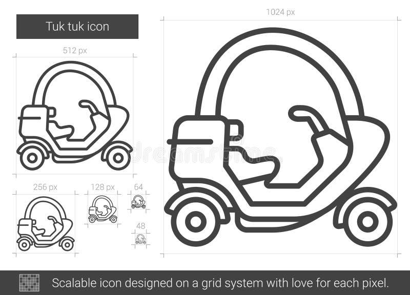 Tuk tuklinje symbol royaltyfri illustrationer